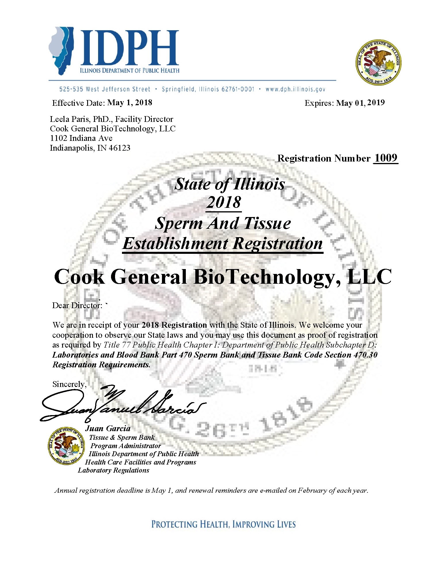 Cook General Biotechnology About Us Our Commitment To Quality