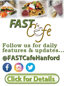 The FAST Cafe is now open and located inside of FAST Plaza. Serving: Breakfast, Lunch, Coffee, Tea, Sodas, Smoothies, and some yummy treats.
