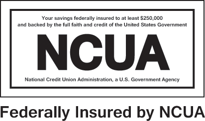 NCUA is for credit unions and FDIC is for banks. They work exactly the same except NCUA has never cost tax payers a penny. At FAST Credit Union, your funds are federally insured up to $250,000 by NCUA.