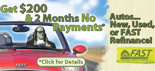 Get $200 & 2 Months no payments* Autos... New, Used, or FAST Refinance! *Click for details