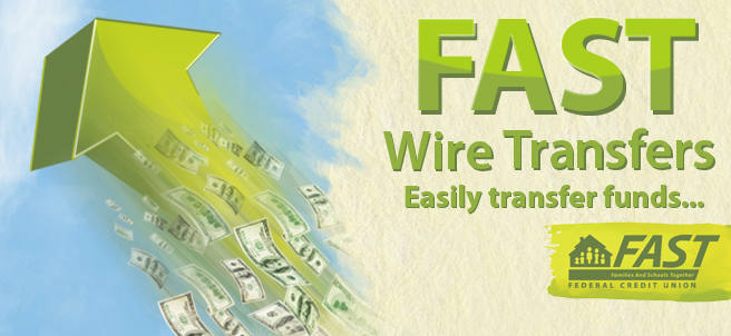 FAST WIre Transfers - The wire is first sent to: Catalyst  6801 Parkwood Boulevard Plano, TX 75024 - Routing/ABA# 311990511   To Further Credit: FAST Credit Union  312 W 7th Street Hanford, CA  93230 - Routing ABA Number: 321173001. Please reference:  - Member Name - Member Number - Savings or Checking. We can help you fill the forms out, just drop by any of our branches.