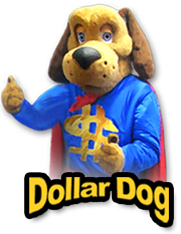 Hey Kids! I'm Dollar Dog, the mascot at FAST Credit Union. You can join my kids club! For ages 12 and under. It's FUN to save money! It's SIMPLE, a $5 deposit can earn you a Dollar Dog Coin. Turn these coins in FAST at any of our branches for prizes.