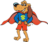 Dollar Dog is our Kid's Club mascot, and he loves visiting classrooms and teaching kids about money!