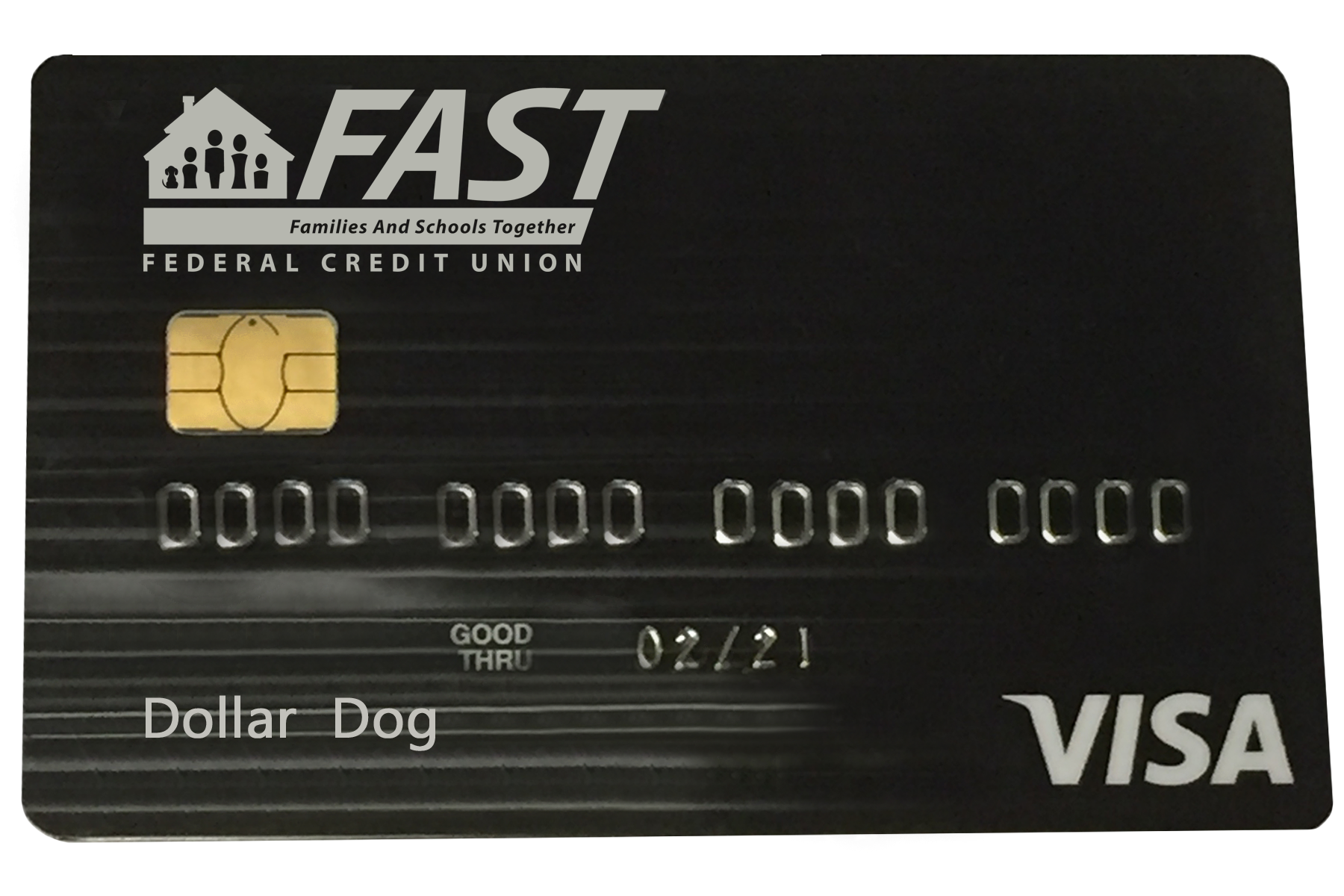 FAST Visa Chip Credit Card is now available. The new chip card makes each transaction safer and more secure. Each time your new chip debit or credit card is used at a chip-terminal, a unique one-time code is generated that is used to approve the transaction. This feature makes it virtually impossible to duplicate counterfeit cards. The chip also helps to secure your personal information, with the chip only generating the unqiue code and not sending any personal data to the retailer.