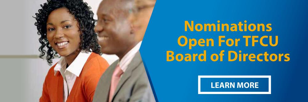 TFCU Board of Directors Nominations Open