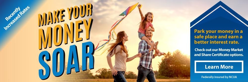 Watch your savings soar with TFCU.