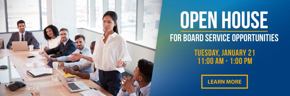 Board Recruitment Open House