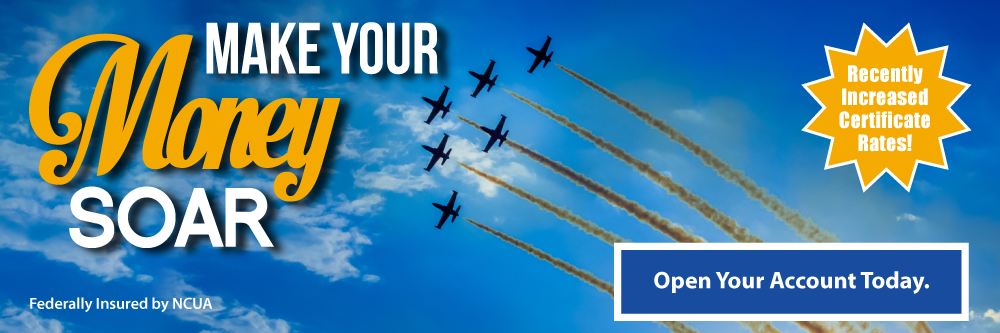 Watch your savings soar with TFCU.