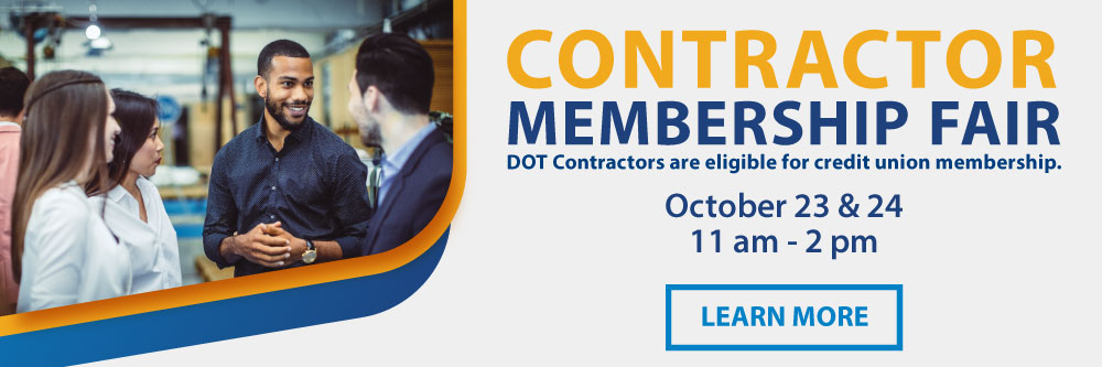Contractor Membership Fair - October 23 & 24.  Click for more info.