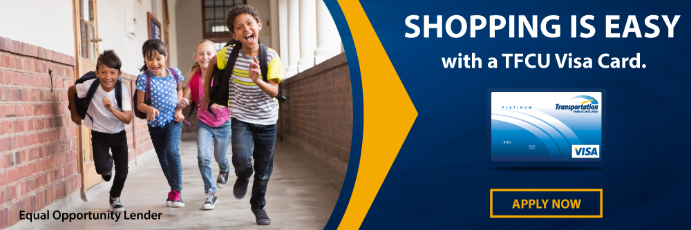 Shop for back to school with you TFCU Visa