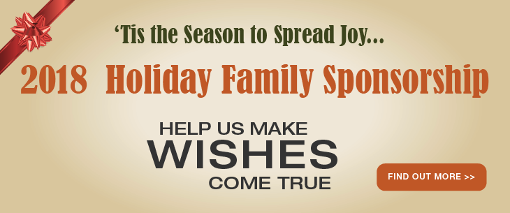 2018 Holiday Family Sponsorship - Help us make wishes come true for a family of 8!