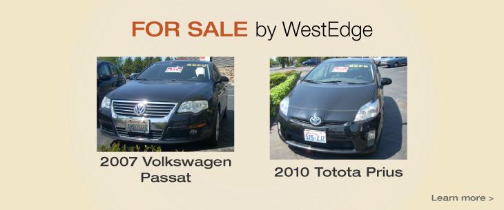 For Sale: 2010 Toyota Prius & 2007 Volkswagen Passat