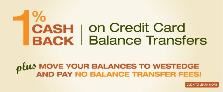 1% cash back on credit card balance transfers!