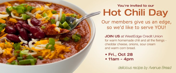 Join us for Hot Chili Day - Fri, 10/30/2015, 11am - 4pm
