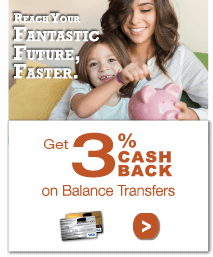 Get 3% cash back on balance transfers