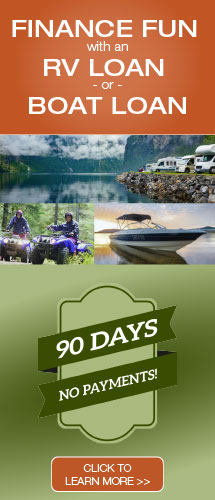 RV & Boat Loan Promo: Make No Payments for 90 Days!